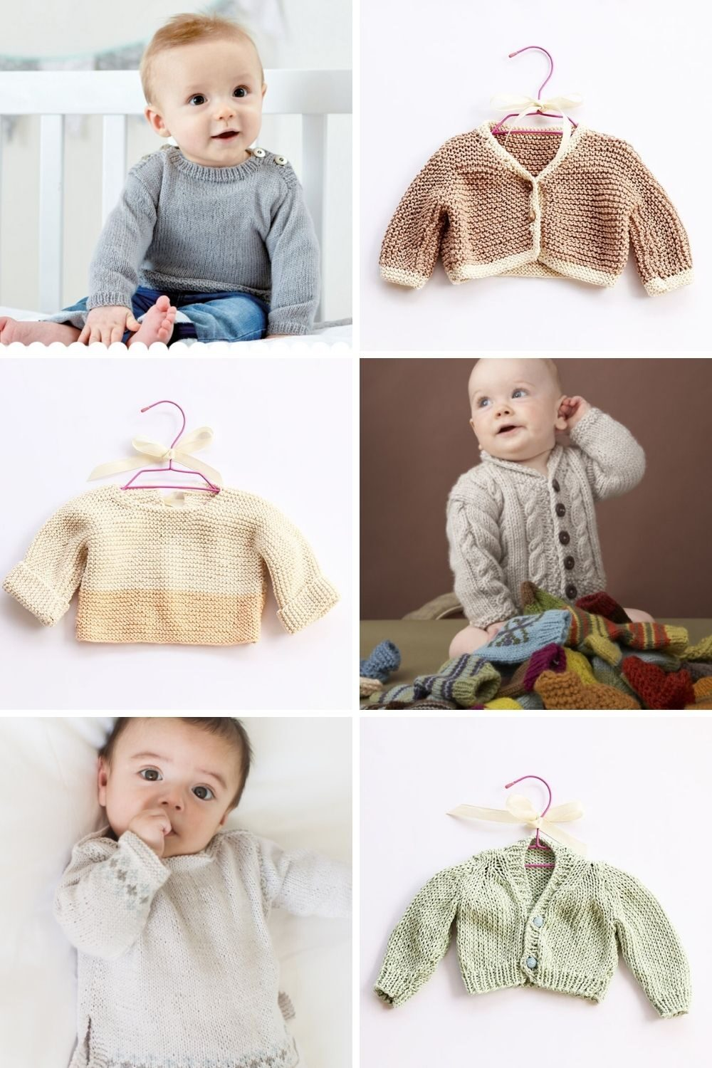 baby sweater patterns featured image