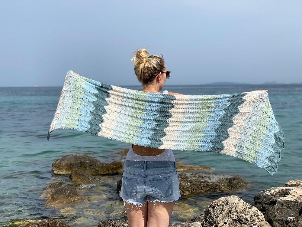 beach shawl knitting pattern