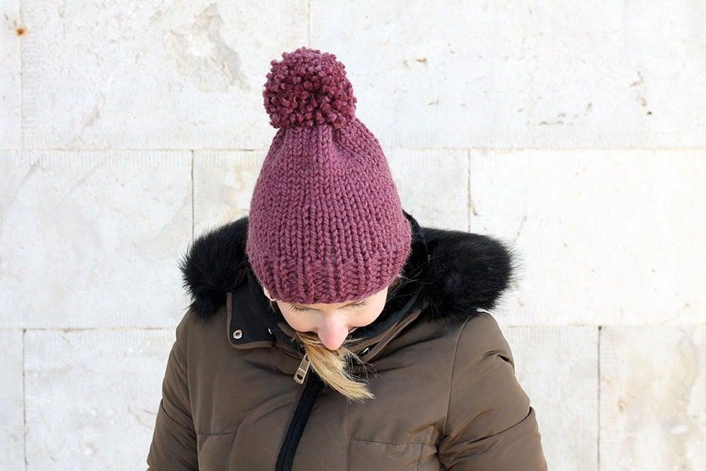 beginner knit hat