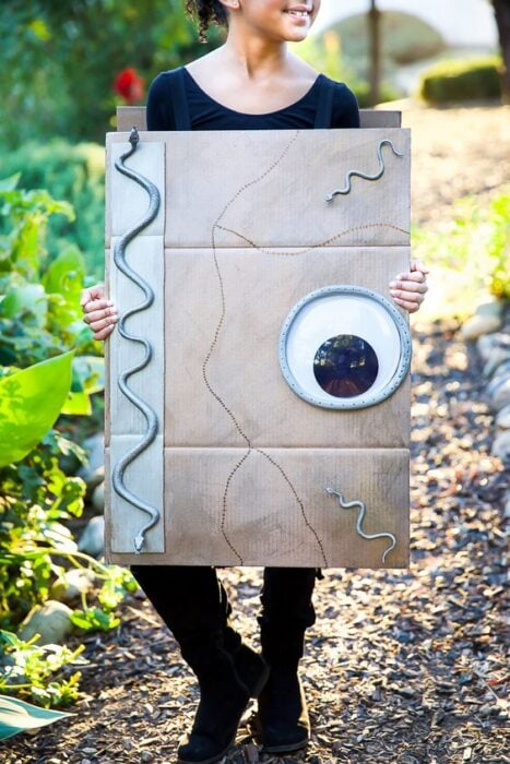 Halloween ideas DIY Spell book costume