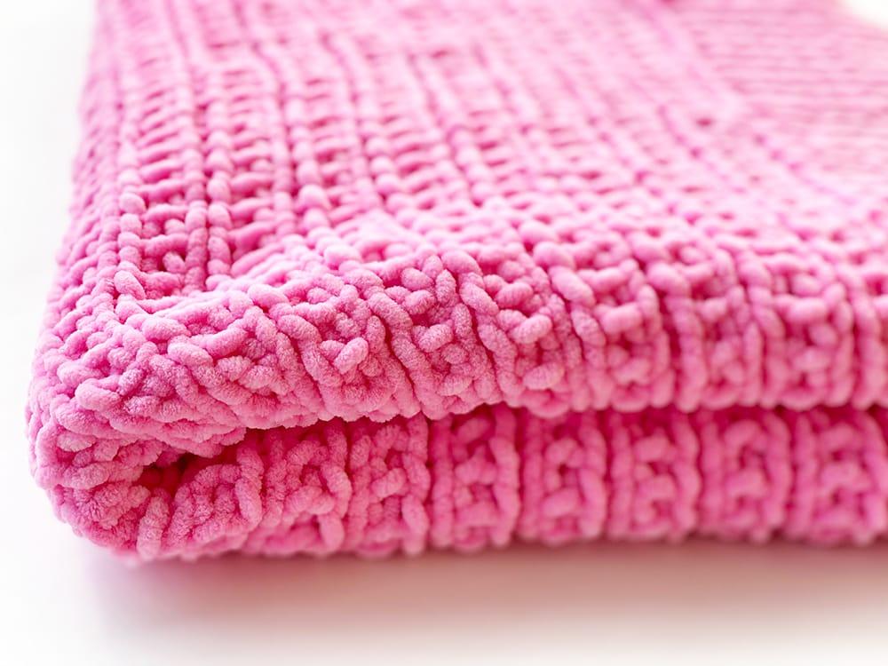 broken rib stitch knit blanket