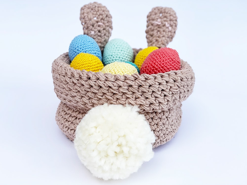 bunny tail on easter basket