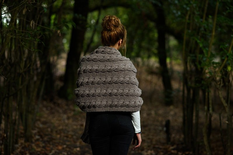 knitted cable shawl