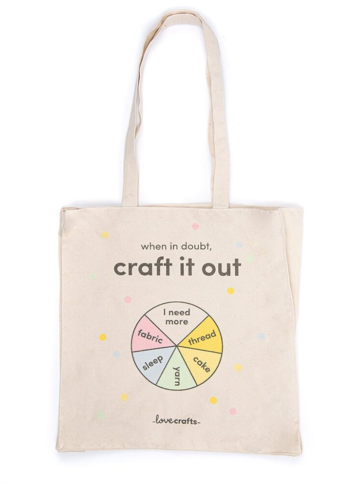 canvas yarn bag with handles