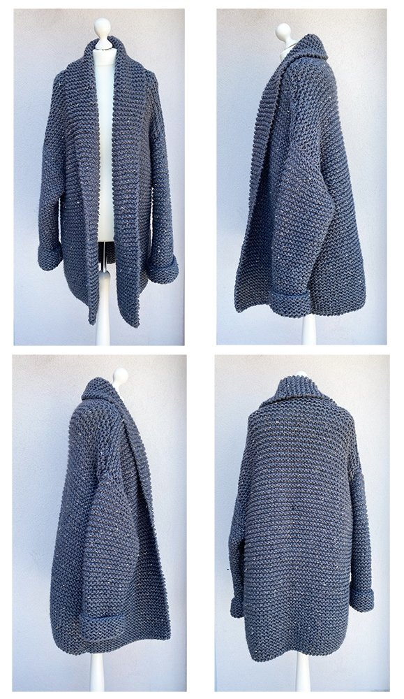 chunky cardigan from four viewpoints