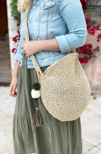 Crochet Bag Pattern {Raffia Circle Bag}