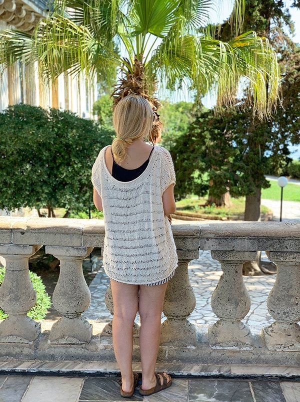 back view of the knit top