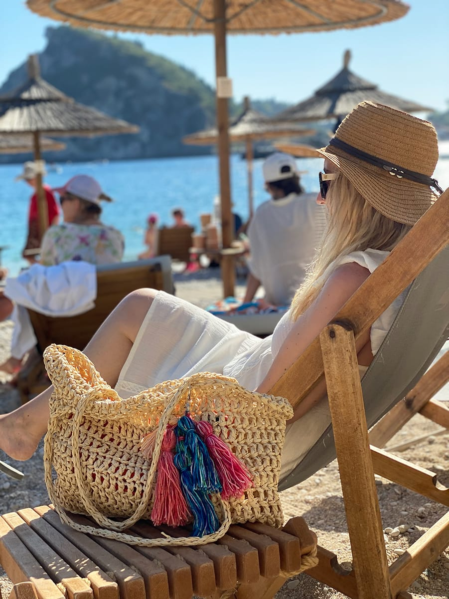 crochet beach bag raffia