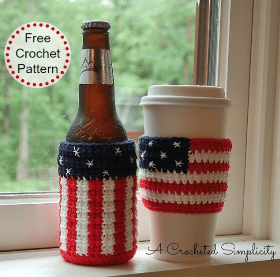crochet beer cozy