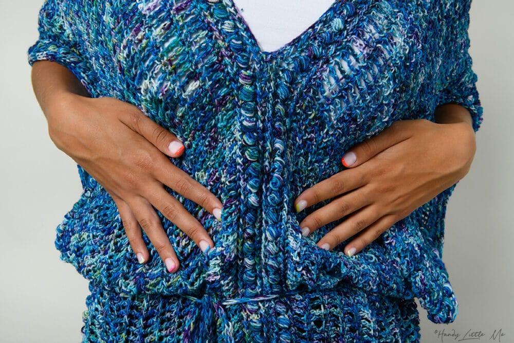crochet bobble close up
