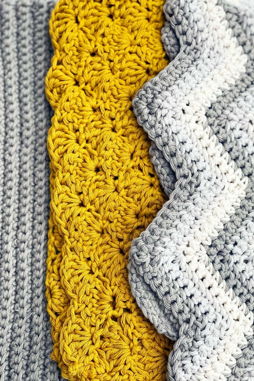 Crochet Dishcloth Pattern Set {Three Designs}