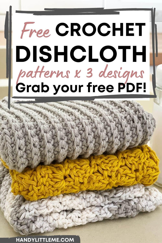 crochet dishcloth patterns pin