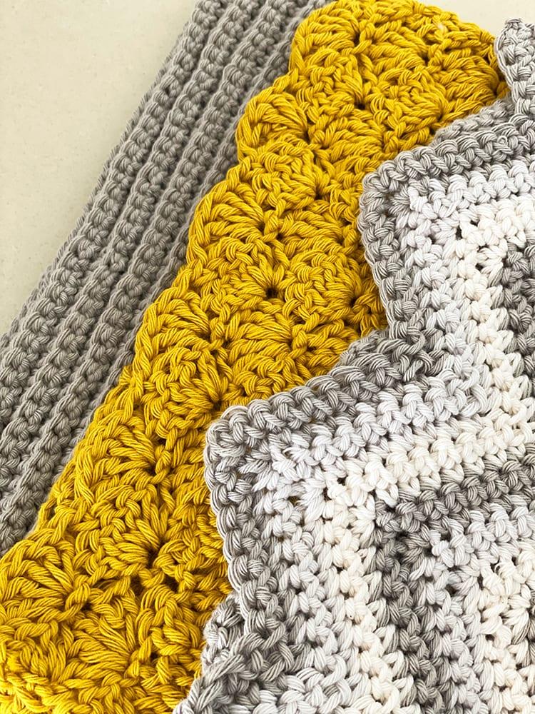crochet dishcloth pattern set