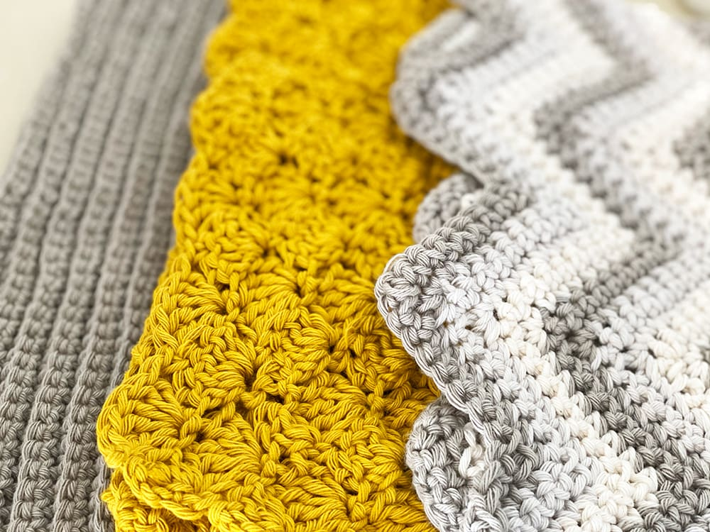 crochet dishcloth patterns with different textures