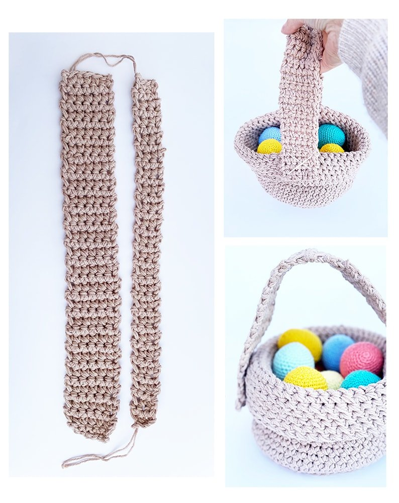 crochet easter basket with handle