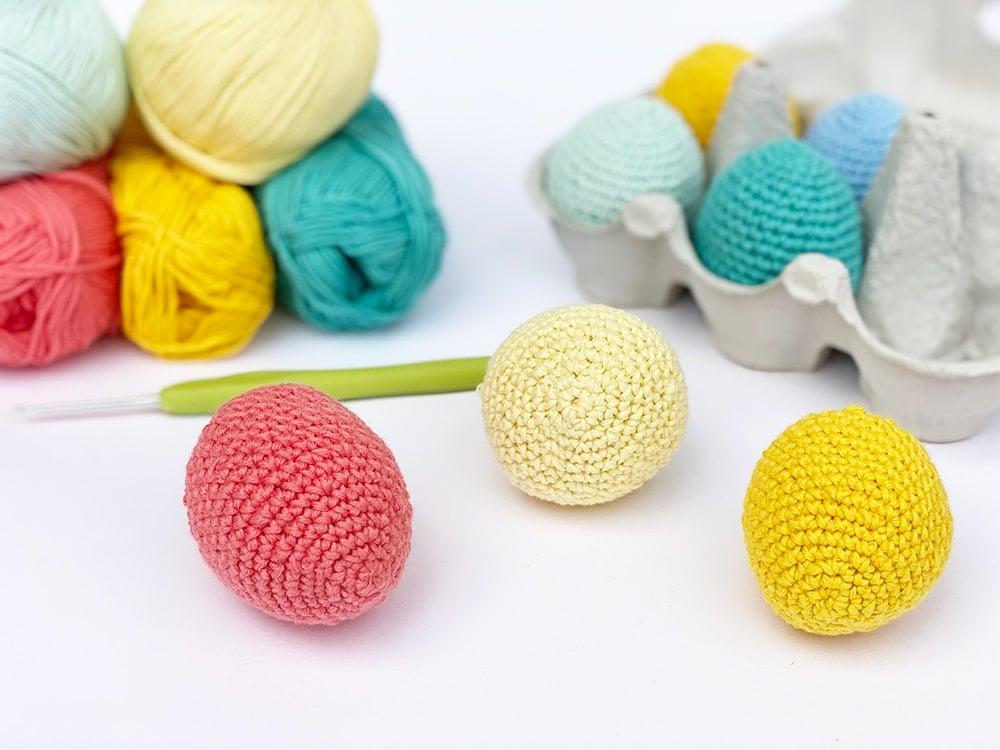 small crochet eggs