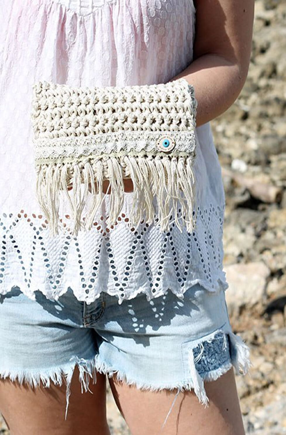 crochet fringe bag