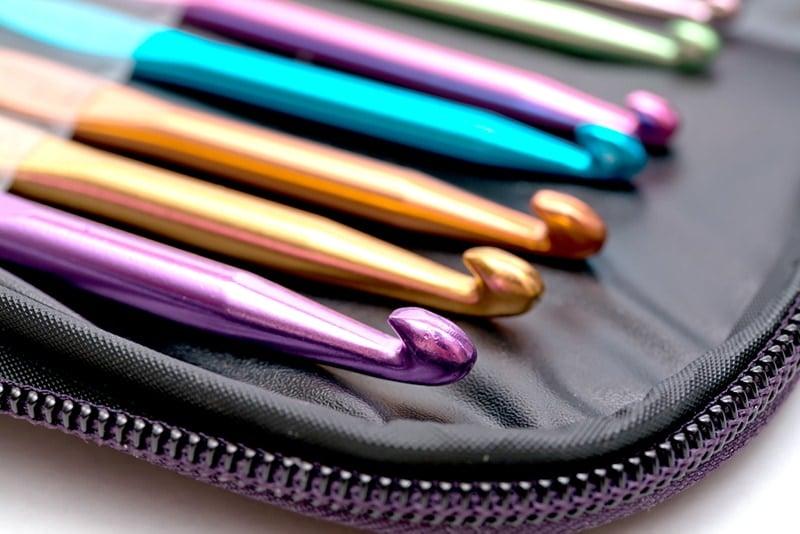 colourful crochet hook set