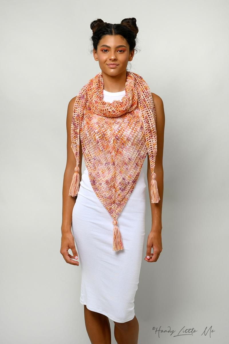 triangle shawl crochet