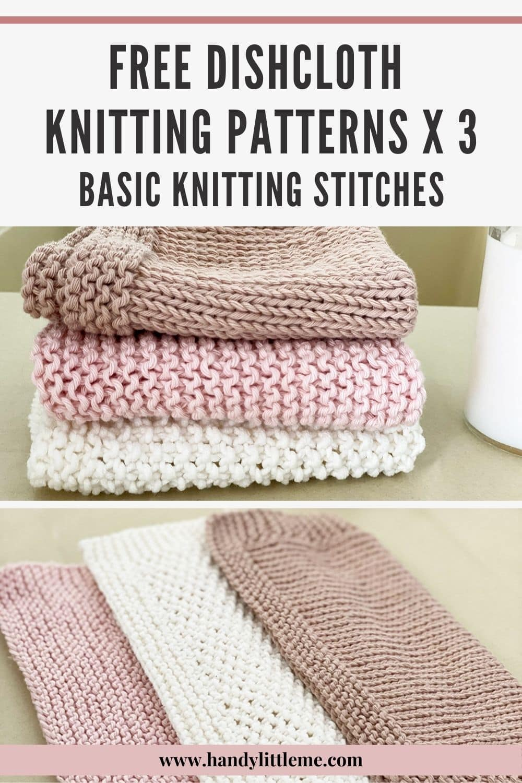 dishcloth knitting patterns pin