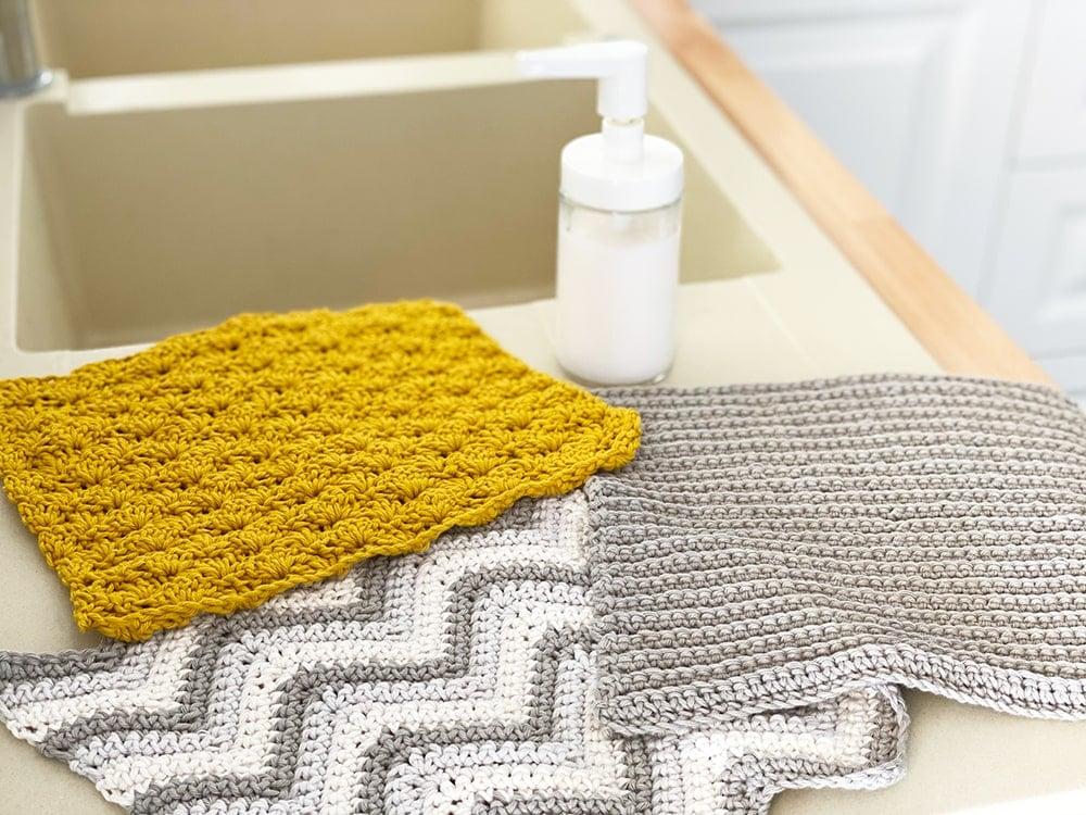 crochet dishcloth set