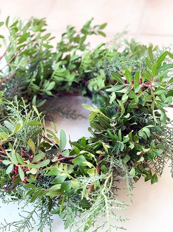 diy Christmas door wreath