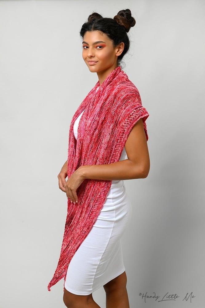easy knit triangle shawl