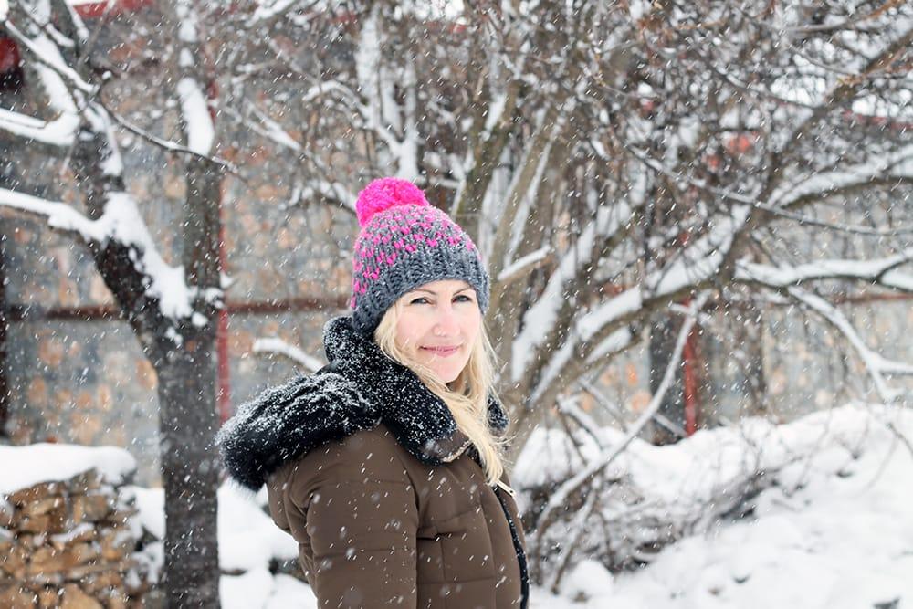 fair isle chunky knit hat