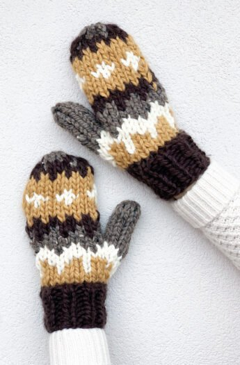 The Bernie Knitted Mittens Pattern {Quick Knit}