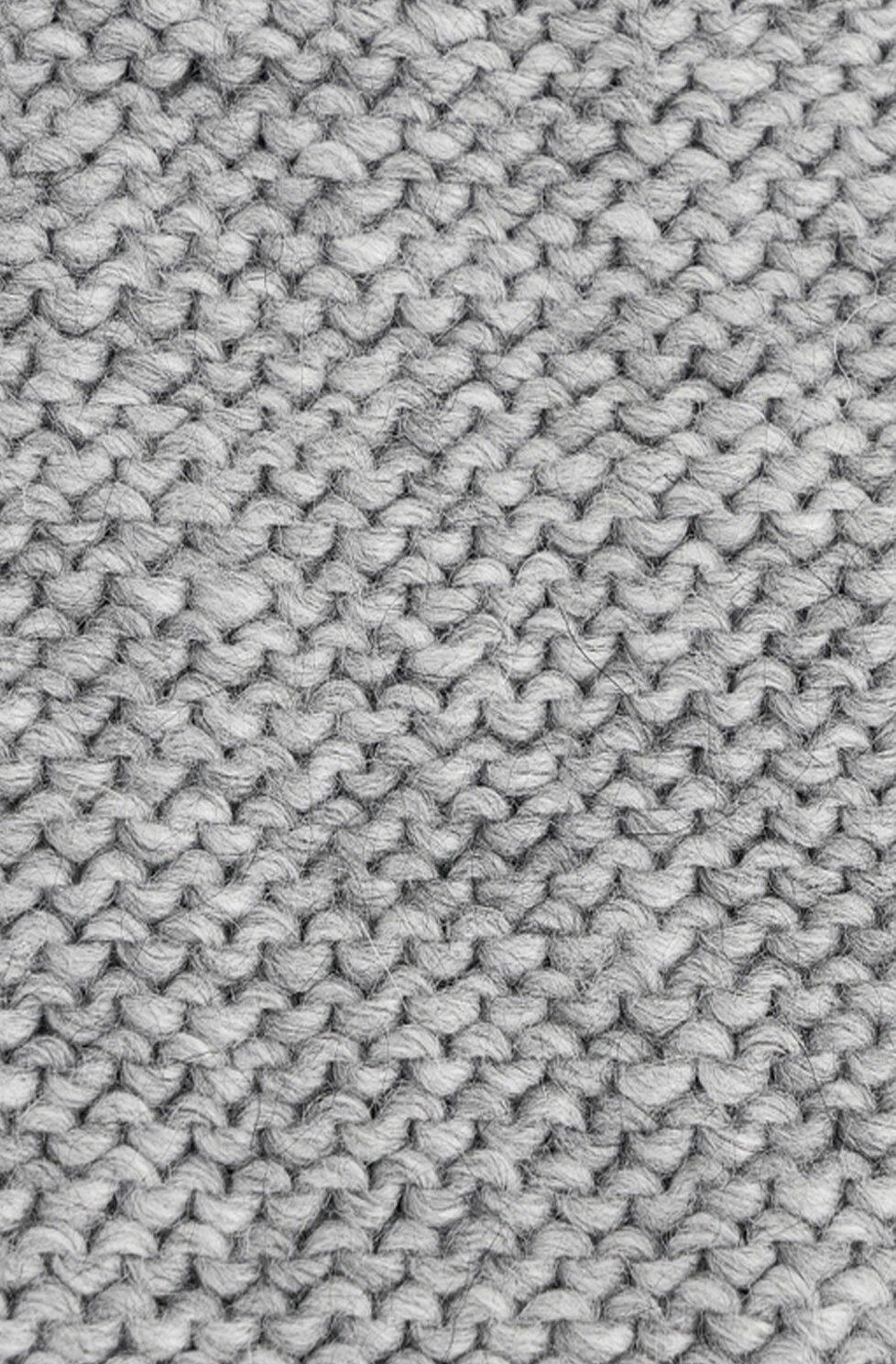 grey purl knitting fabric