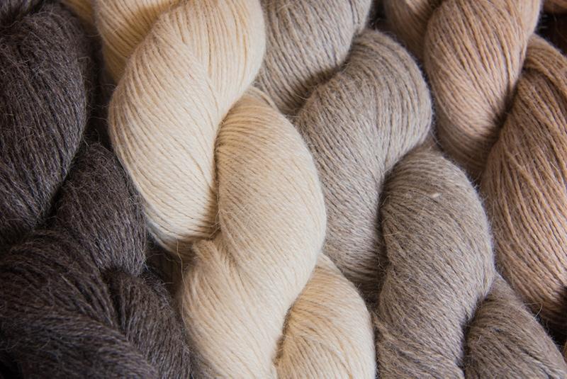 fine weight yarn in earthy tones