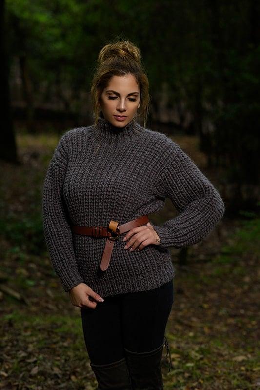 fisherman rib sweater