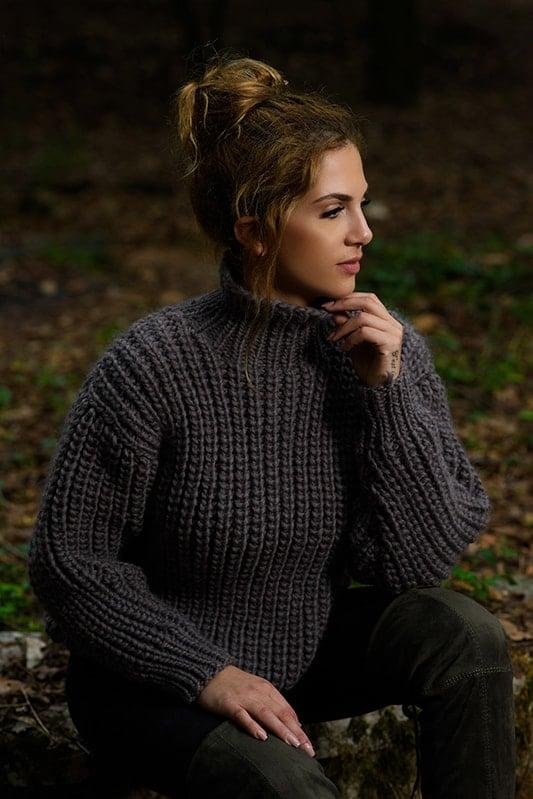 fishermans rib sweater