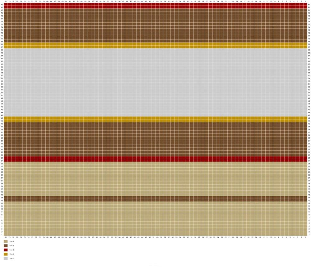fraser tartan shawl chart