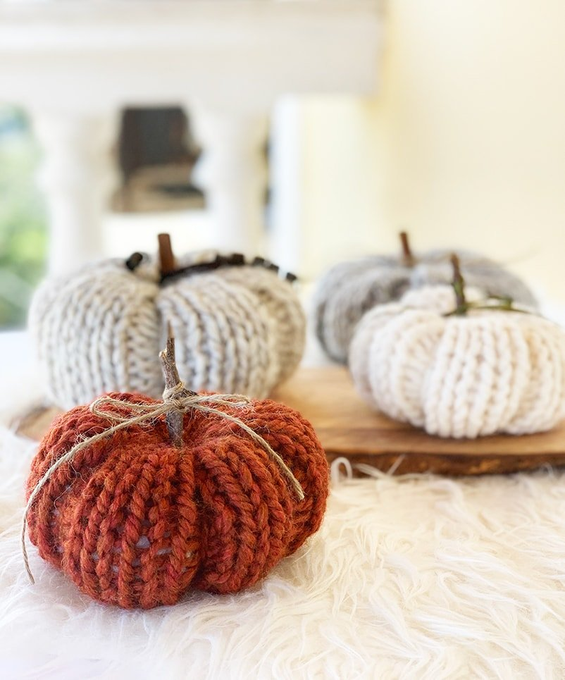 pumpkin knitting pattern using super bulky yarn
