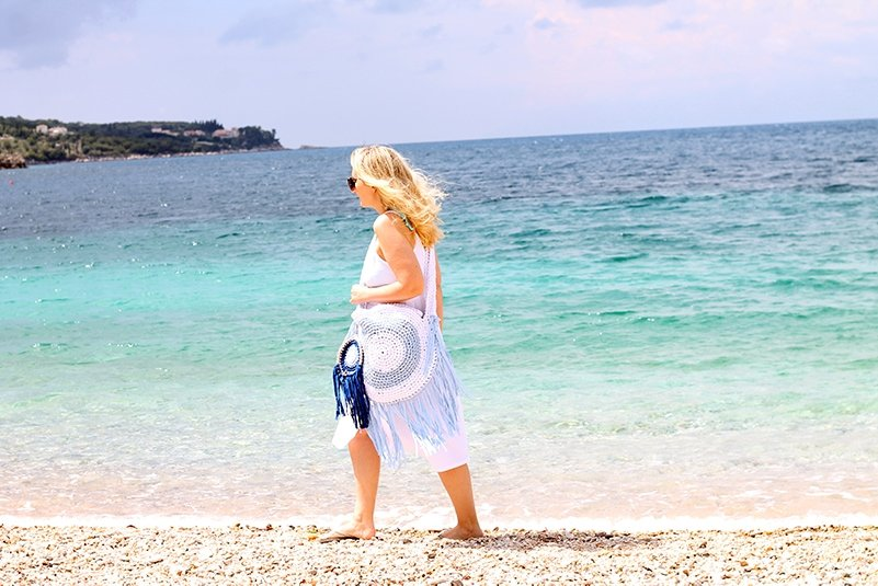 fringe beach bag