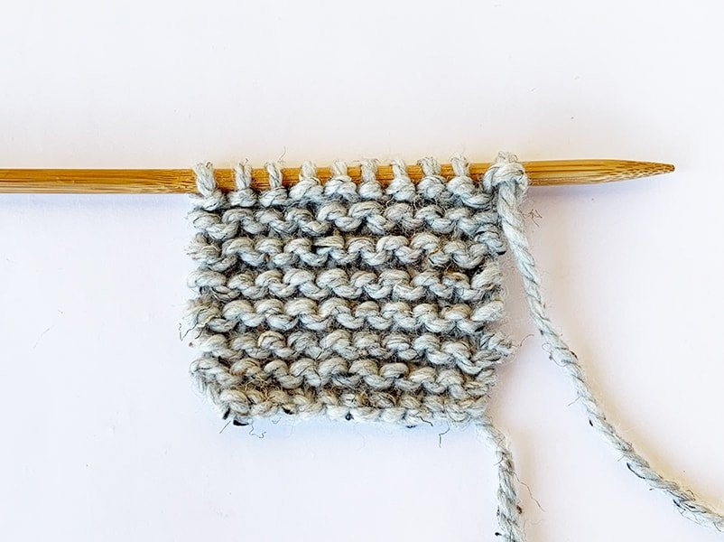 garter stitch knitting example