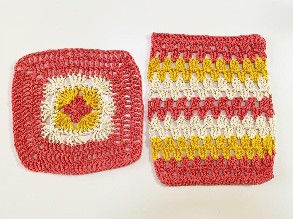 granny square crochet washcloths