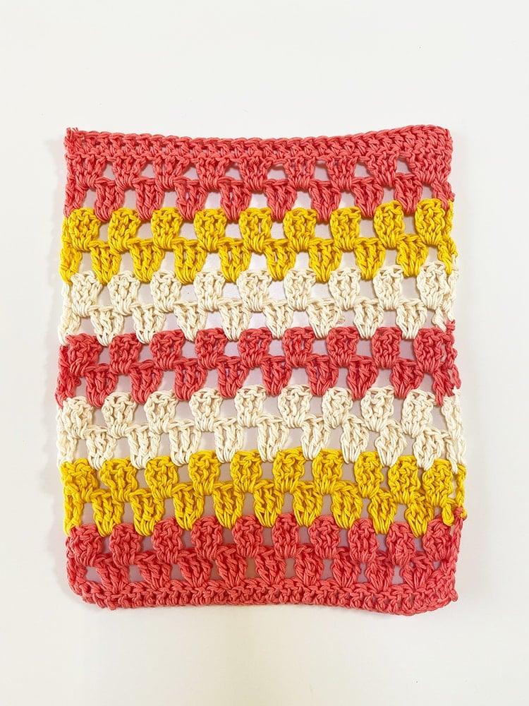 granny stripe washcloth
