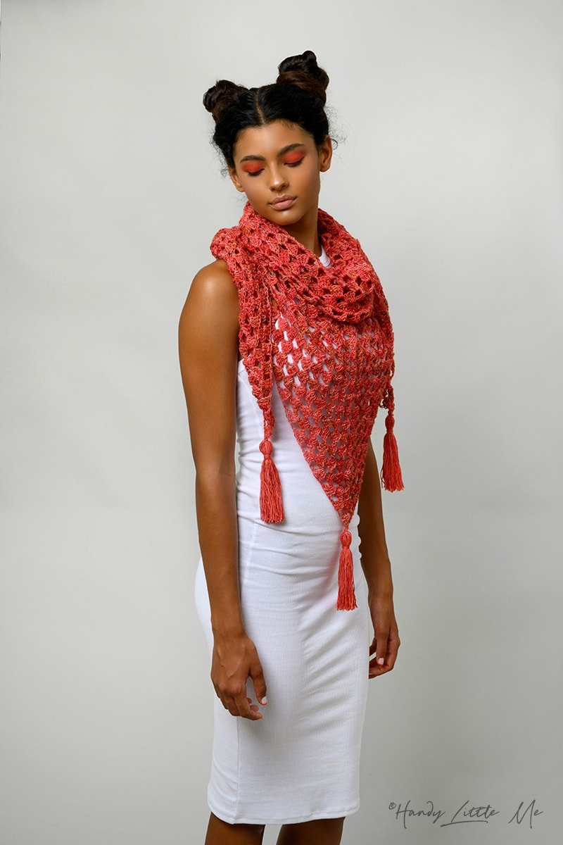 granny triangular crochet