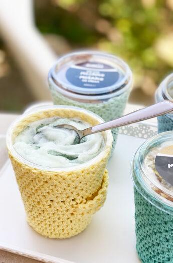 Ice Cream Cozy Crochet Pattern {Beginner Friendly!}