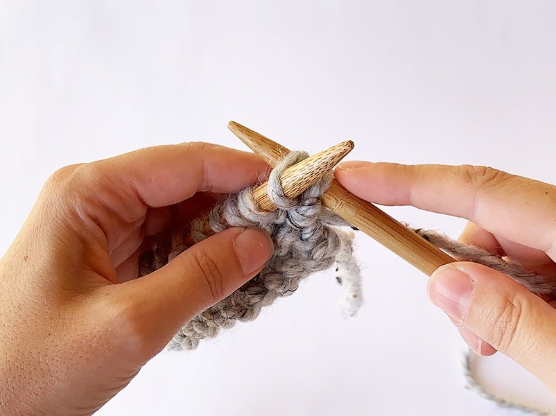 knitting into the back of the stitch