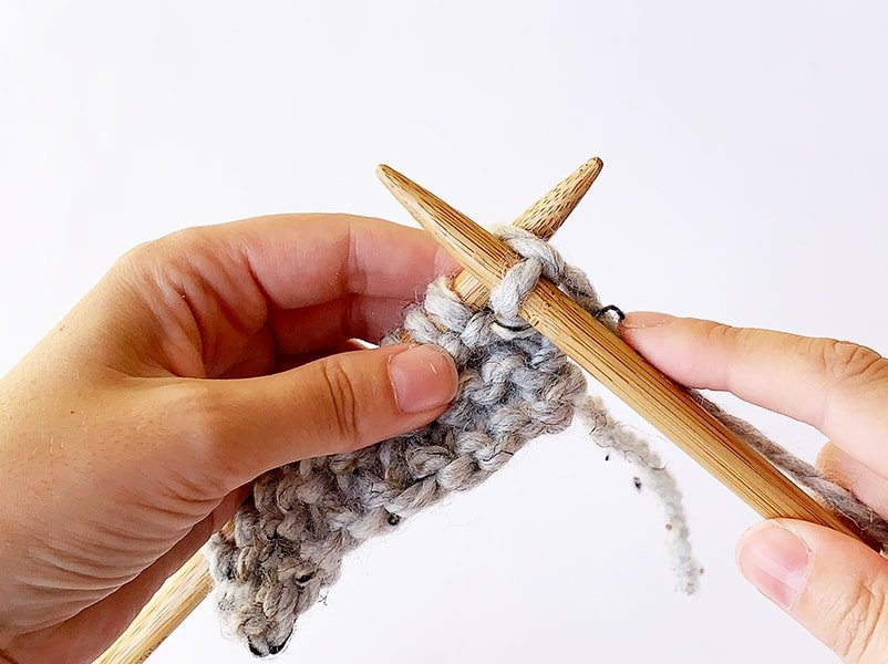 knitting into the front of a stitch