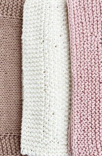 Dishcloth Knitting Patterns {To Practice Basic Knitting Stitches}