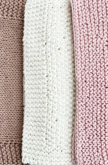 Dishcloth Knitting Patterns {To Practice Basic Knitting Stitches}