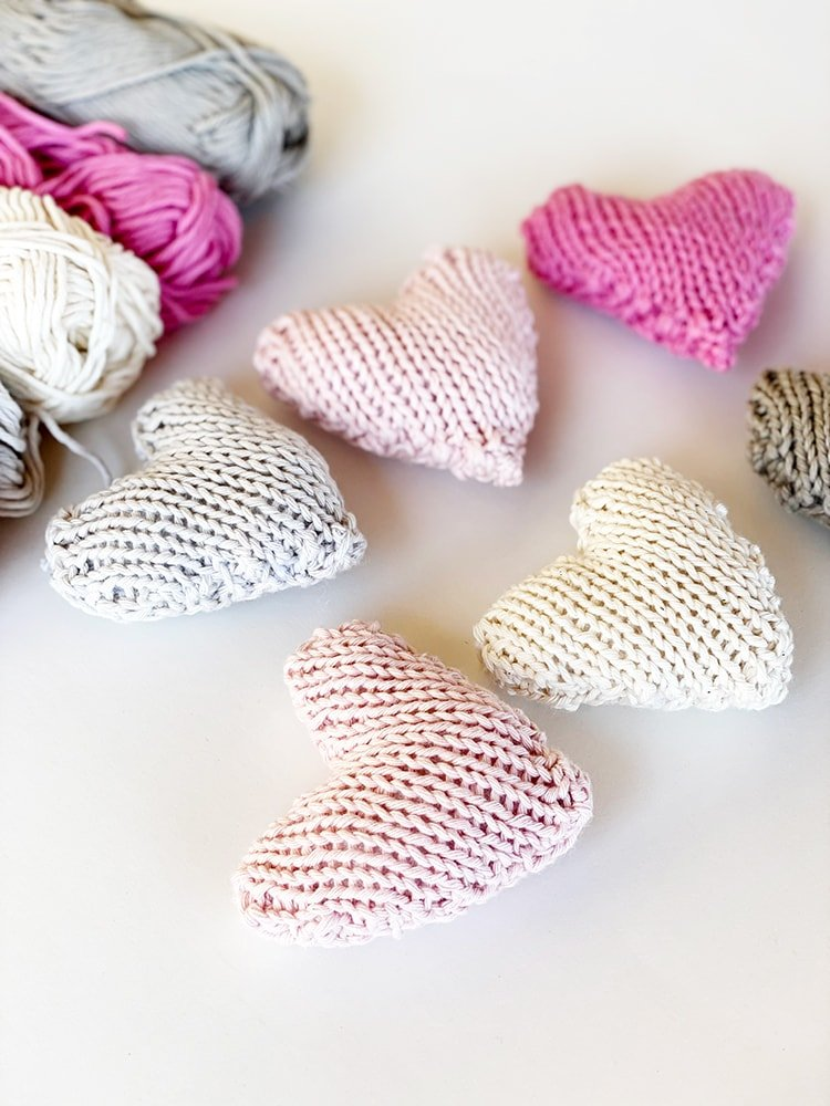 knitted heart