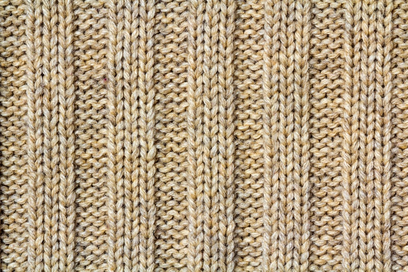 knitted ribbing swatch
