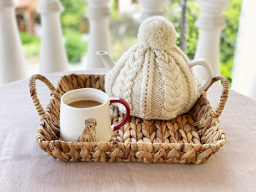 teapot cozy knitting pattern cable knit