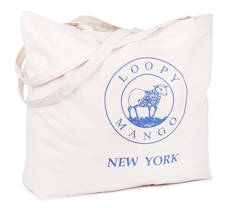 loopy mango yarn bag