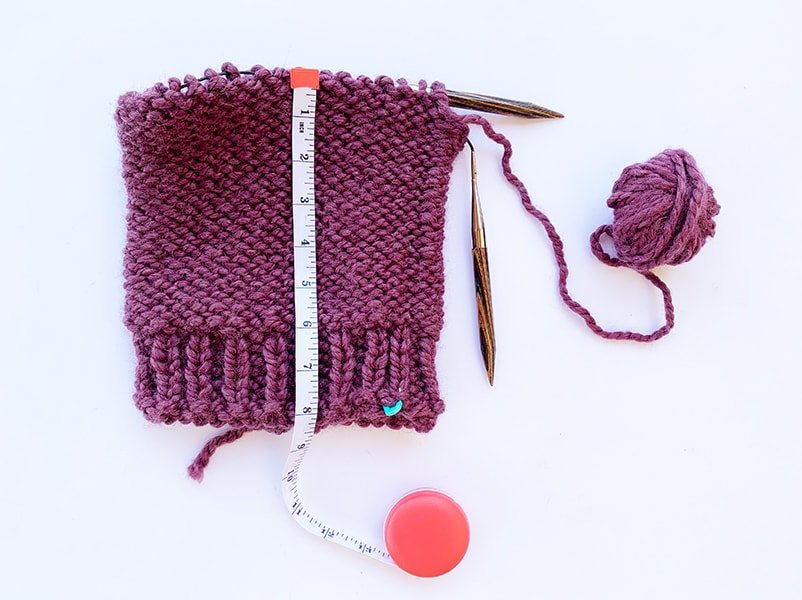 main body of the knitted hat